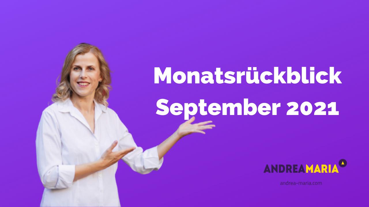 Monatsrückblick September 2021